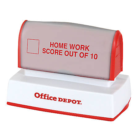 "Office Depot® Brand Pre-Inked Stamp, 1 3/16"" x 2 3/4"" Impression"