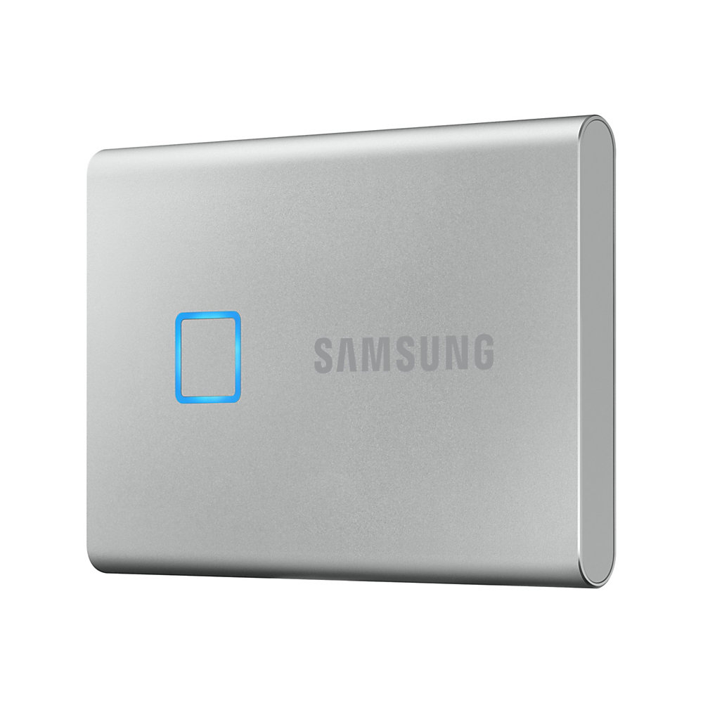 Samsung Portable SSD T7 Touch MU-PC1T0S - Solid state drive - encrypted - 1 TB - external (portable) - USB 3.2 Gen 2 (USB-C connector) - 256-bit AES -