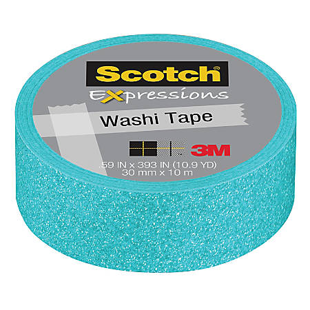 "Scotch® Expressions Glitter Tape, 0.59"" x 196"", Pastel Blue"
