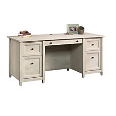 Sauder Edge Water Executive Desk Chalked