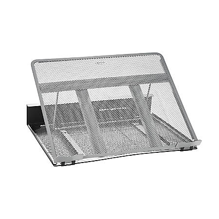 Rolodex® Mesh Workspace Laptop Stand, Black/Silver