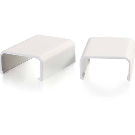 C2G Wiremold Uniduct 2800 Cover Clip - White - White - Polyvinyl Chloride (PVC)