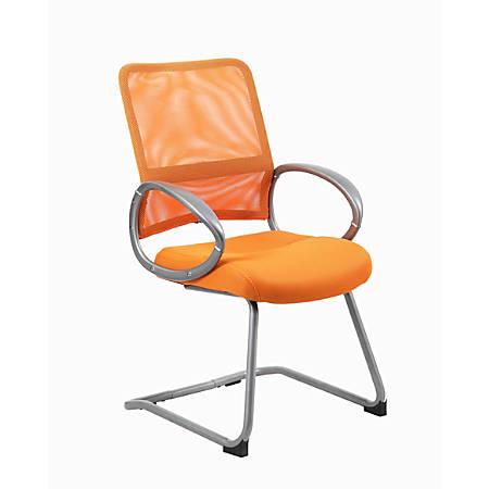 Boss Mesh Guest Chair, Orange/Pewter