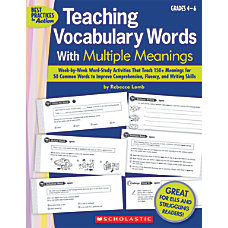 Scholastic Teaching Vocabulary Words With Multiple