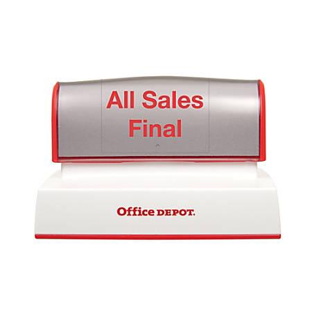 "Office Depot® Brand Pre-Inked Stamp, 2 5/8"" x 3 5/8"" Impression"