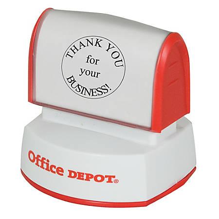 "Office Depot® Brand Pre-Inked Stamp, 1 9/16"" Diameter Impression"
