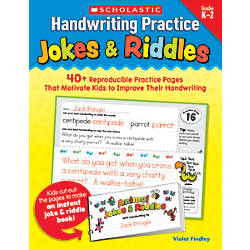 Scholastic Handwriting Practice Jokes Riddles