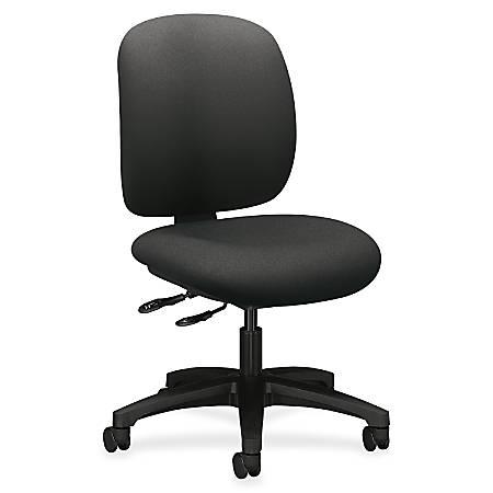 "HON ComforTask Chair, Iron Ore Fabric - Polymer Iron, Olefin Seat - Polymer Iron, Olefin Back - 5-star Base - 20"" Seat Width x 18"" Seat Depth - 24"" Width x 34.3"" Depth x 38.3"" Height"