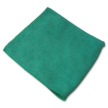 "Genuine Joe General Purpose Microfiber Cloth - Cloth - 16"" Width x 16"" Length - 180 / Carton - Green"