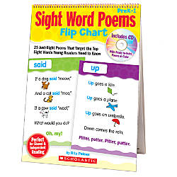 Scholastic Sight Word Poems Flip Chart