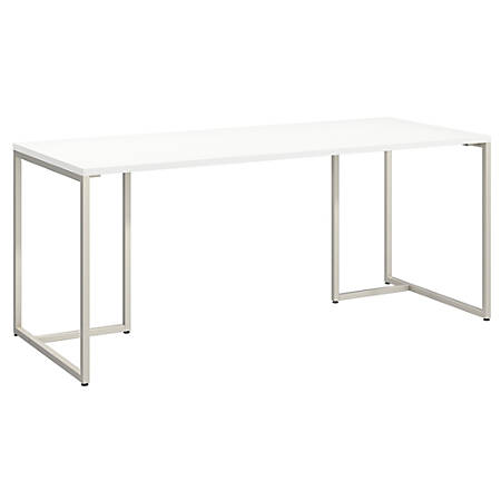 """kathy ireland® Office by Bush Business Furniture Method Table Desk, 72""""W, White, Standard Delivery"""