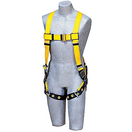 DBI-SALA® Delta™ No-Tangle™ Harness, Back D-Ring, Universal, Navy/Yellow