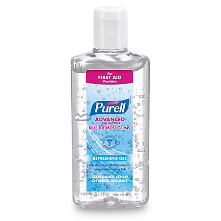 Purell® Instant Hand Sanitizer, 4 Oz. Squeeze Bottles, Carton Of 24