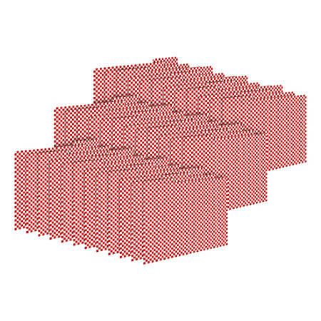 Barker Creek Tab File Folders, Letter Size, Red Check, Pack Of 36 Folders
