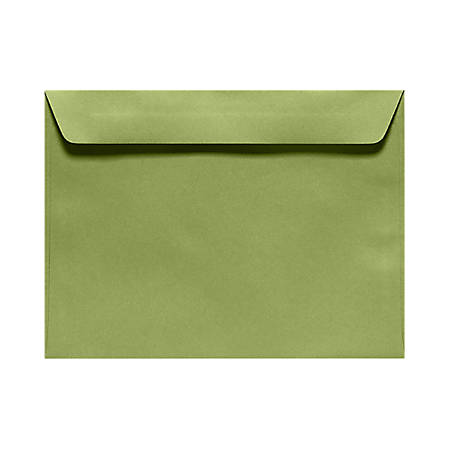 """LUX Booklet Envelopes With Moisture Closure, #6 1/2, 6"""" x 9"""", Avocado Green, Pack Of 500"""