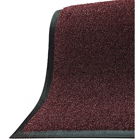 "M + A Matting Brush Hog Floor Mat, 36"" x 48"", Burgundy Brush"