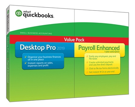 Intuit QuickBooks® Desktop Pro 2019 With Enhanced Payroll, Traditional Disc  Item # 7044884