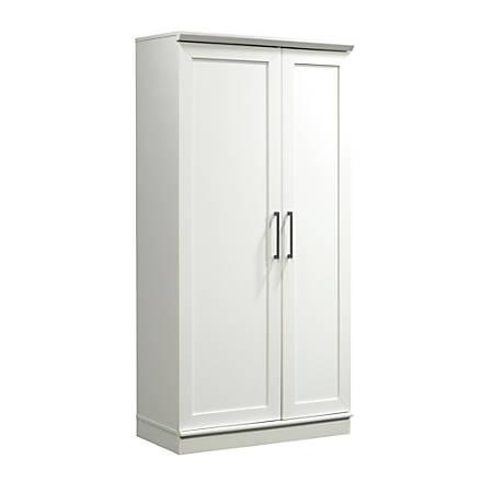 Sauder® HomePlus Storage Cabinet, 12 Shelves, Soft White
