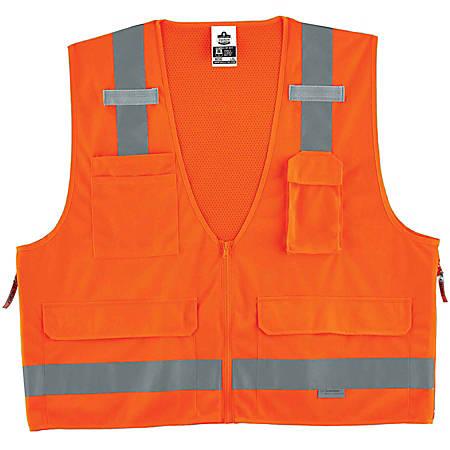 Ergodyne GloWear® Safety Vest, Surveyor's 8250Z, Type R Class 2, 4X/5X, Orange