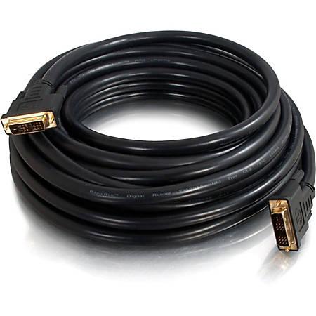 C2G 65ft Pro Series DVI-D CL2 M/M Single Link Digital Video Cable