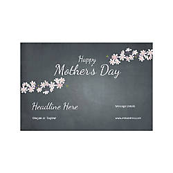 Custom Poster Horizontal Mothers Day Black