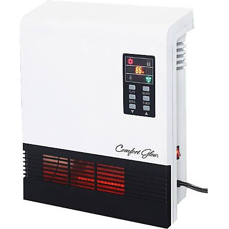 Comfort Glow Quartz Wall Mount Comfort Furnace - Quartz - Electric - Electric - 750 W to 1500 W - 2 x Heat Settings - 1000 Sq. ft. Coverage Area - 1500 W - 120 V AC - 12.50 A - Wall Mount - White, Black