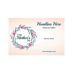 Custom Poster Horizontal Mothers Day Circle