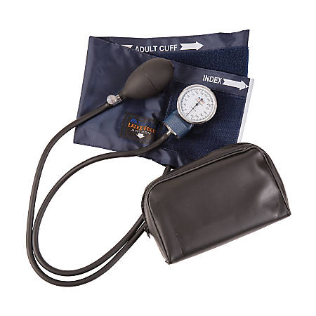 MABIS Precision Series Aneroid Sphygmomanometer, With Large Adult Cuff, Blue