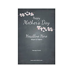 Custom Banner Vertical Mothers Day Black