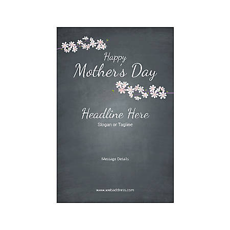 Custom Banner, Vertical, Mother's Day Black