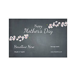 Custom Banner Horizontal Mothers Day Black