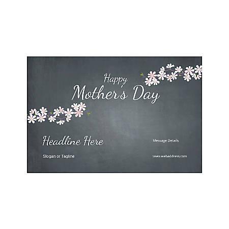 Custom Banner, Horizontal, Mother's Day Black