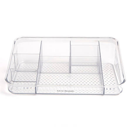 Mind Reader Acrylic Cosmetic Storage Organizer, 7 Compartments, Clear