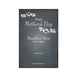 Custom Banner Vertical Mothers Day Black