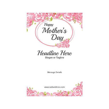Custom Banner, Vertical, Mother's Day Roses