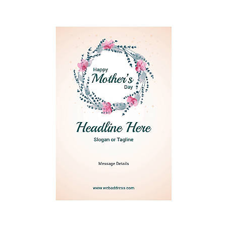 Custom Banner, Vertical, Mother's Day Circle