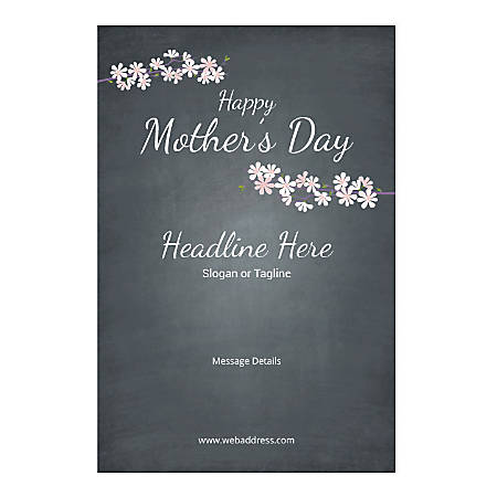 Window Decal, Vertical, Mother's Day Black