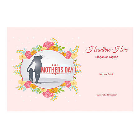 Window Decal, Horizontal, Mother's Day Child