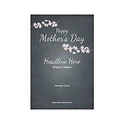 Adhesive Sign Vertical Mothers Day Black