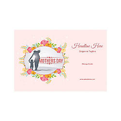 Adhesive Sign Horizontal Mothers Day Child