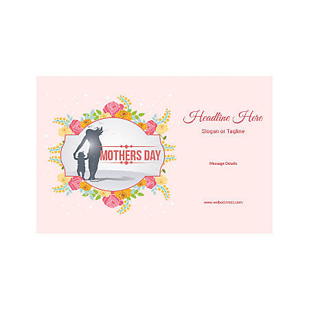 Adhesive Sign, Horizontal, Mother's Day Child