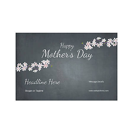 Adhesive Sign, Horizontal, Mother's Day Black