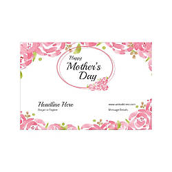 Adhesive Sign Horizontal Mothers Day Roses