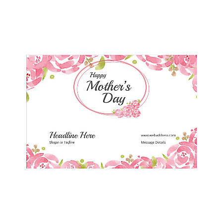 Adhesive Sign, Horizontal, Mother's Day Roses