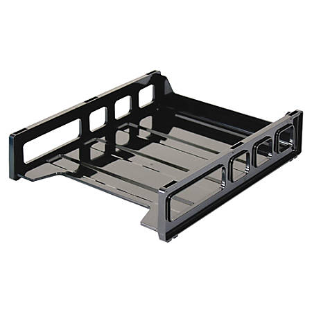 """Officemate® Front Load Letter Tray, 10 1/2""""H x 12 1/2""""W x 2 7/8""""D, Black"""