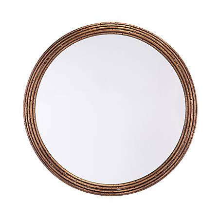 """Zuo Modern Zero Round Mirror, Medium, 27 5/8""""H x 27 5/8""""W x 1""""D, Antique"""
