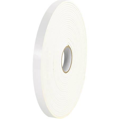 """Tape Logic® 5600 Double-Sided Foam Tape, 0.5"""" x 108', White, Case Of 24"""