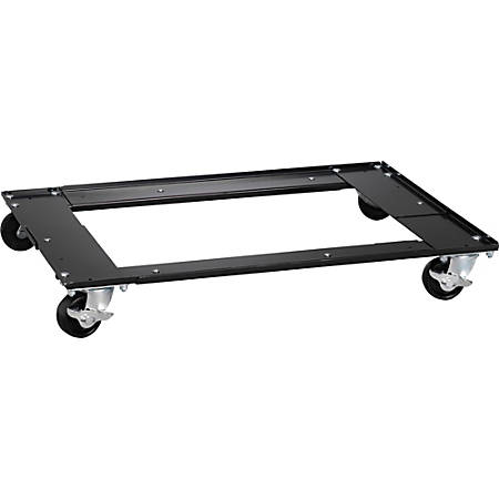 """Lorell Commercial Cabinet Dolly - Metal - 42"""" Width x 24"""" Depth x 4"""" Height - Black"""
