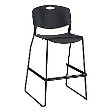 Lorell Heavy Duty Bistro Stack Chairs