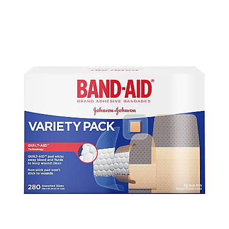 Band-aid® Bandages, Adhesive, Assorted, Box Of 280 Bandages